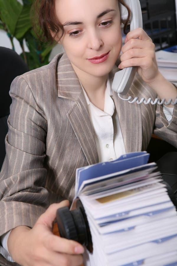 Secretária da mulher imagens de stock