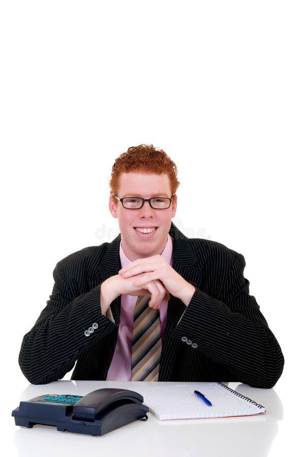 Secretária masculina nova considerável fotos de stock