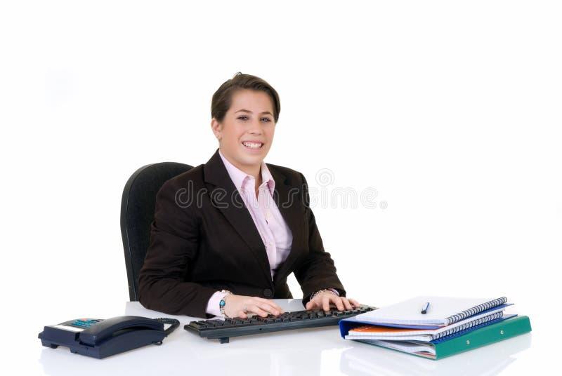 Secretária nova atrativa imagens de stock royalty free