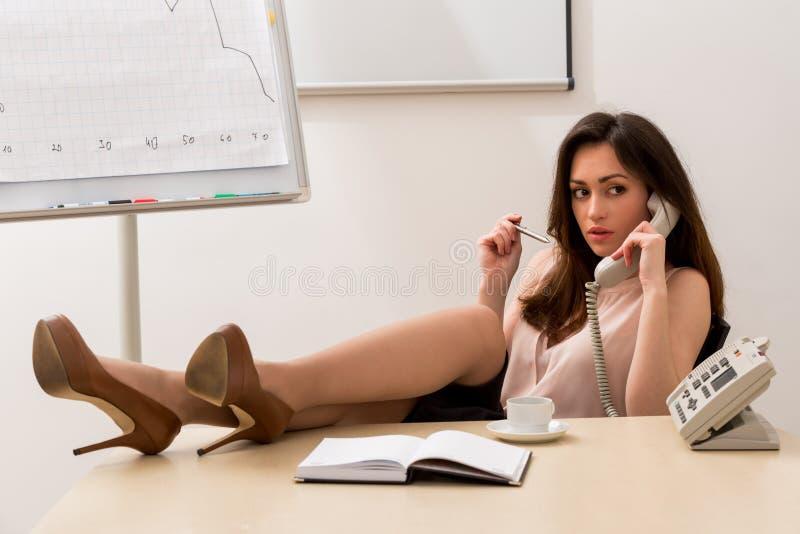 Secretária 'sexy' imagem de stock
