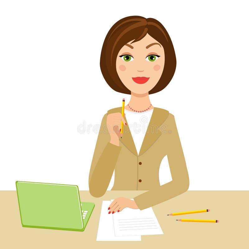 Secretário do escritório ilustração royalty free