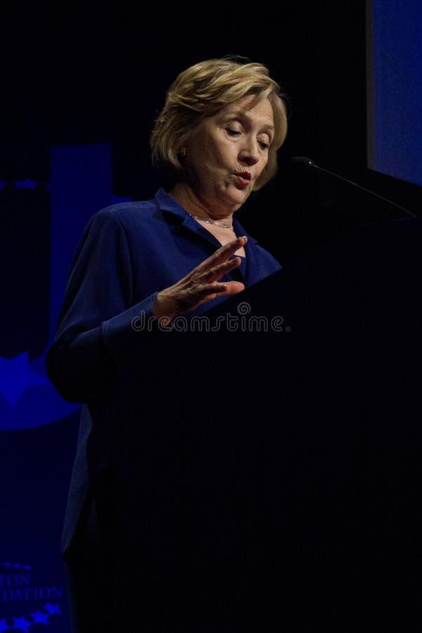 Secretário do Estados Unidos de estado Hillary Clinton foto de stock royalty free