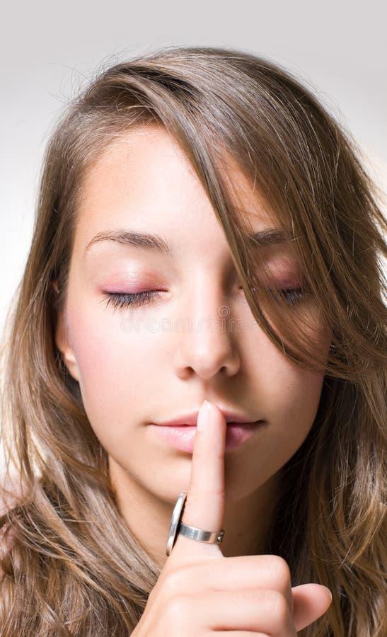 Download The secret. stock image. Image of attractive, gesture - 18554821