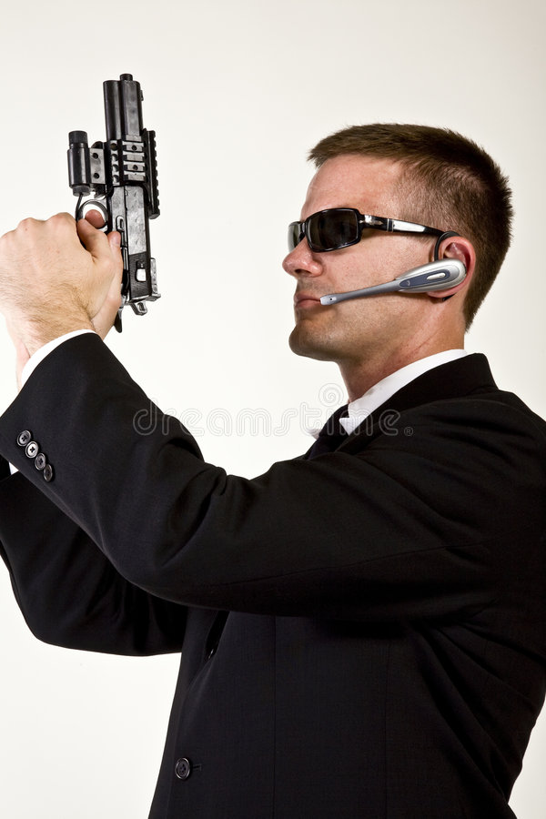 Secret Agent Armed And Dangerous Stock Images