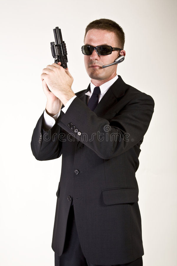 Secret Agent Armed and Dangerous stock photography