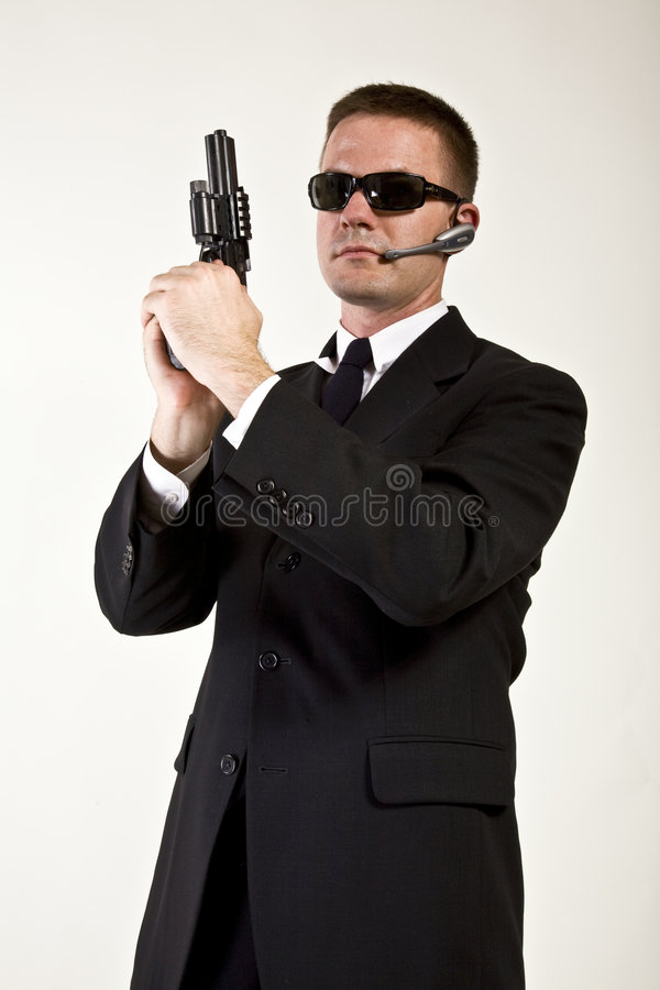 Secret Agent Armed and Dangerous royalty free stock photography
