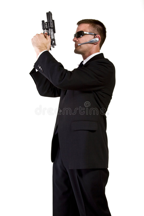 Download Secret Agent Armed And Dangerous Royalty Free Stock Photography - Image: 7226627