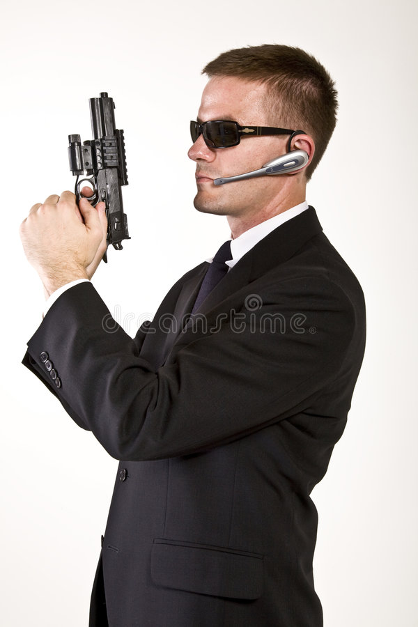 Download Secret Agent Armed And Dangerous Royalty Free Stock Photos - Image: 7293608