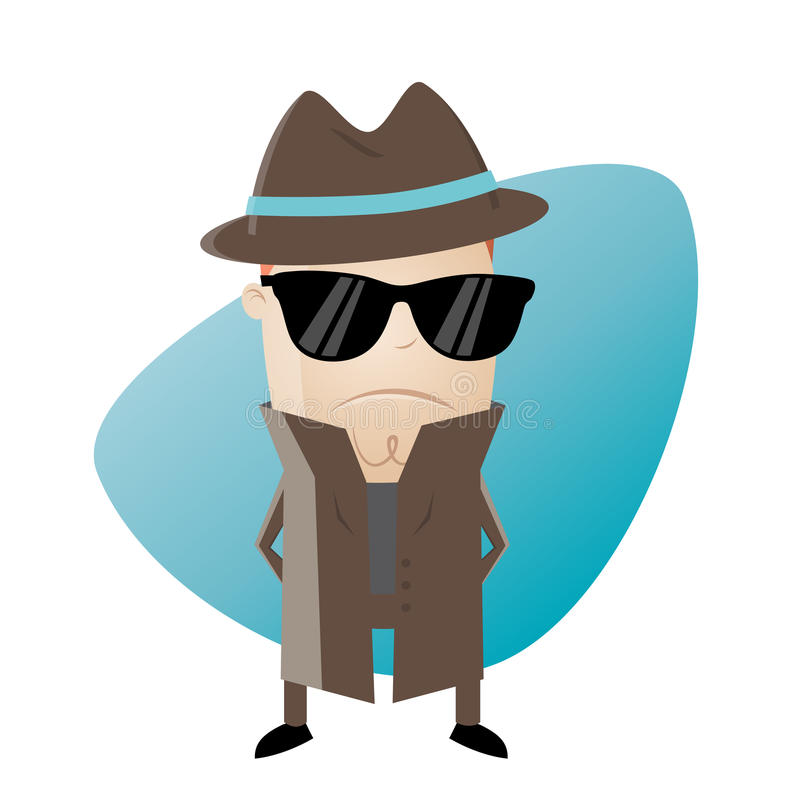 secret agent clipart stock vector illustration of humorous 87520413 rh dreamstime com Secret Agent Logo secret agent clip art free