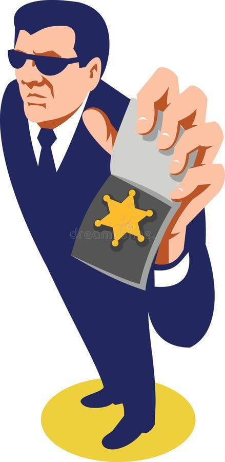 Secret Agent ID Badge Retro royalty free illustration