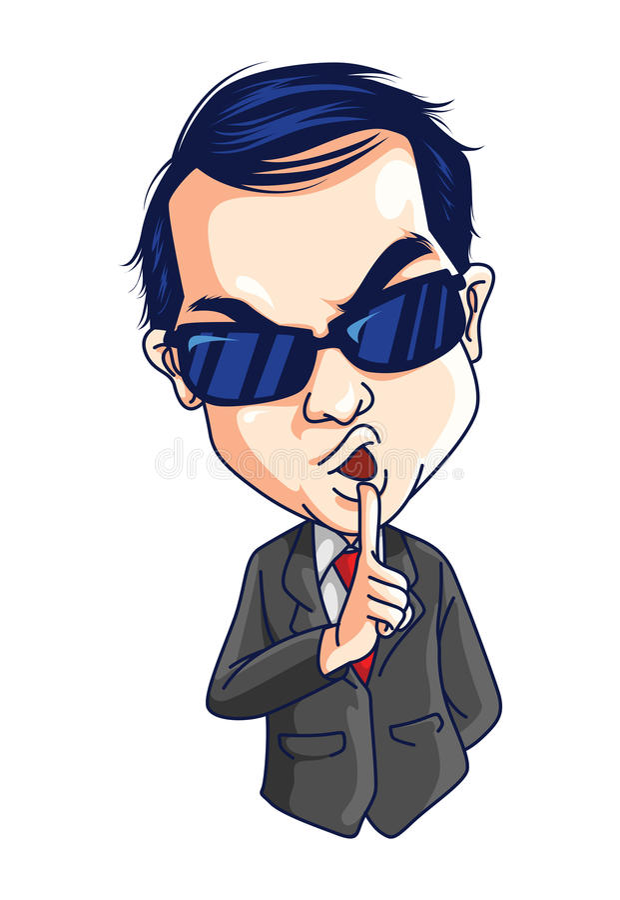Secret Agent vector illustration