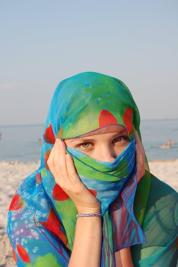 Download Secret arabian girl stock image. Image of mask, hiding - 11900001