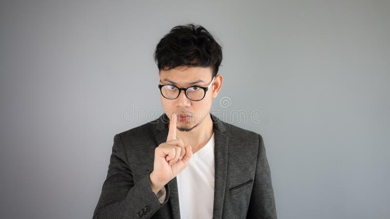 Secret of Asian man business. stock photos