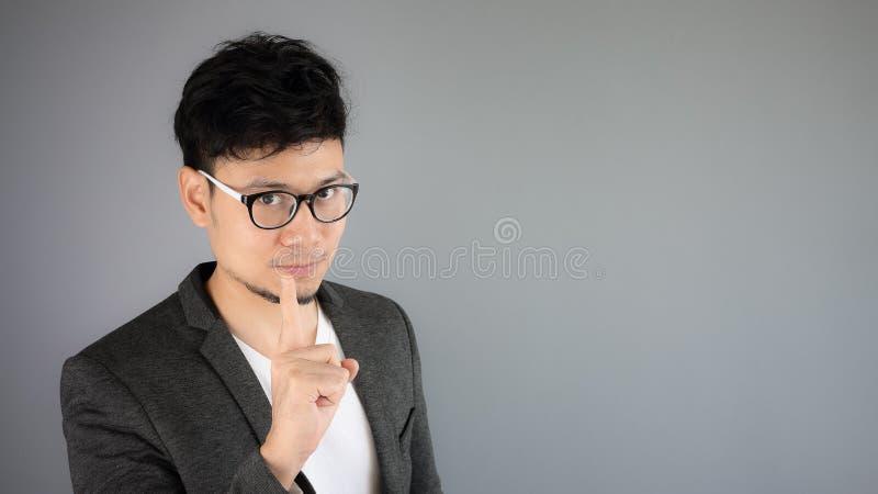 Secret of Asian man business. stock image
