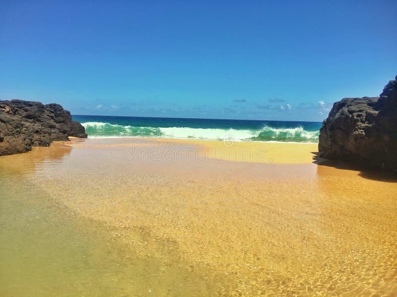 Secret Beach Cove stock image