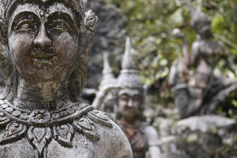Secret buddha garden koh samui thailand stock photo