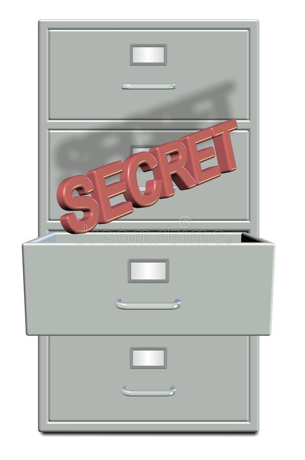 Secret coming out stock illustration