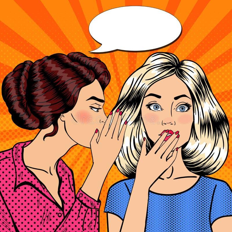 Download Secret De Chuchotement De Jeune Femme à Son Ami Art De Bruit Illustration de Vecteur - Illustration du nouvelles, secret: 76086903