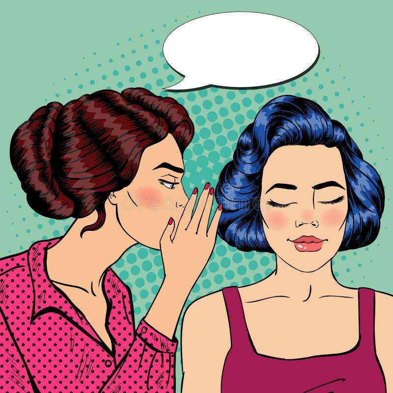 Download Secret De Chuchotement De Jeune Femme à Son Ami Art De Bruit Illustration de Vecteur - Illustration du adulte, information: 76086989