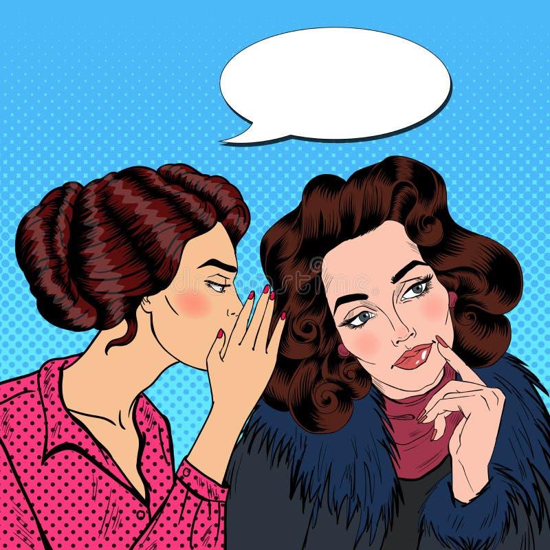Download Secret De Chuchotement De Jeune Femme à Son Ami Art De Bruit Illustration de Vecteur - Illustration du transmission, amitié: 76087118