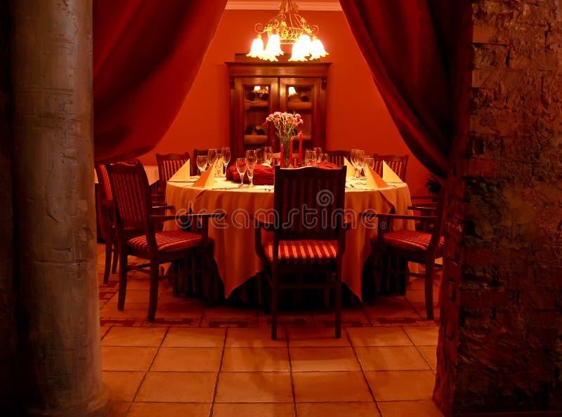 Secret dining room stock image