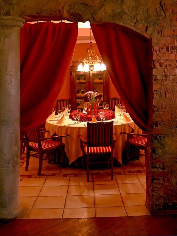 Secret dining room stock photo