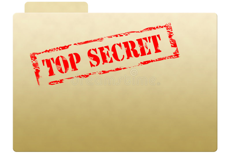 Secret document folder stock photos