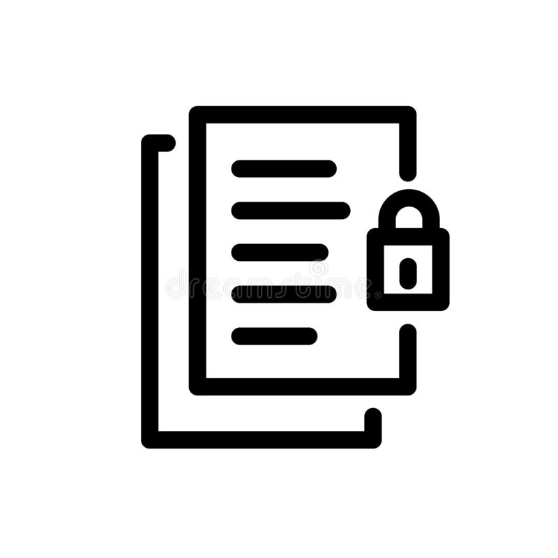 Secret Documents Icon. Vector icons on a white background. Trendy linear icon. Icon for website and print. Logo, emblem, symbol. I royalty free illustration