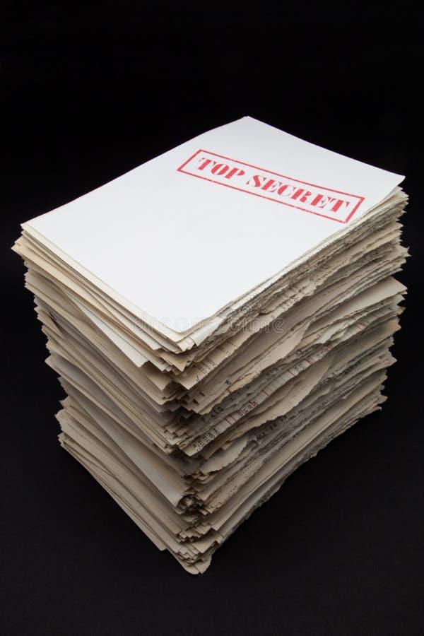 Secret documents royalty free stock photos