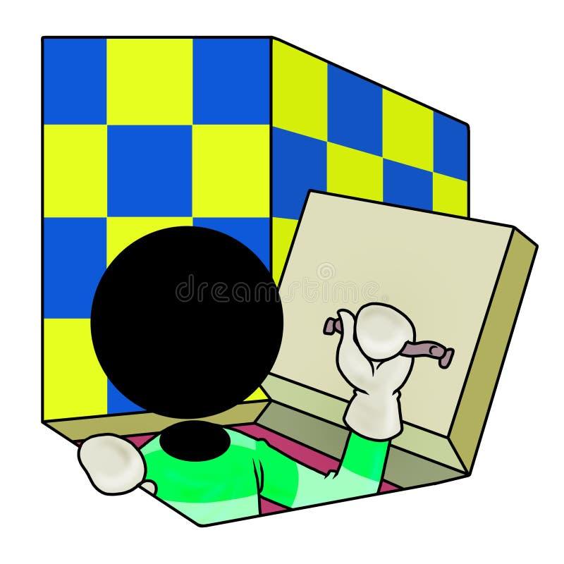 Download Secret door stock illustration. Illustration of underground - 18587070