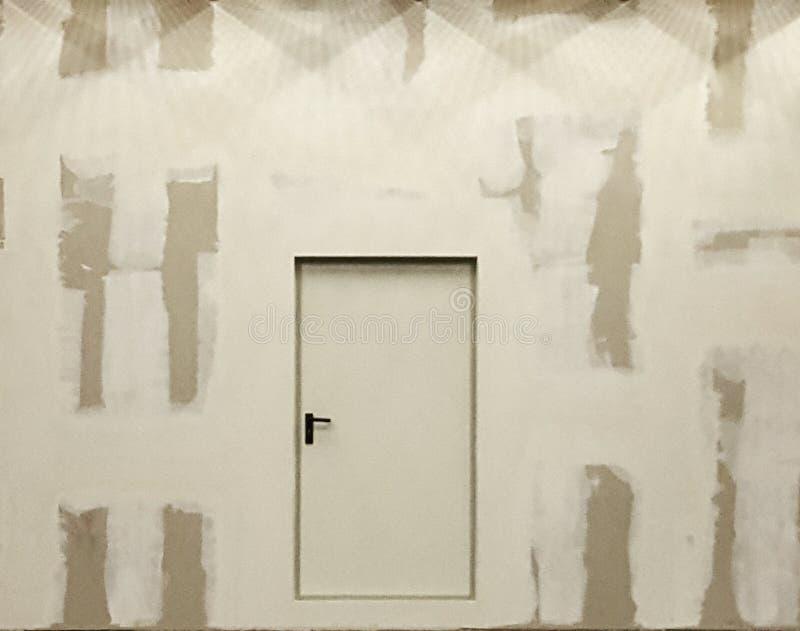 Secret door lights. Door constraction secretplace narnia stock images
