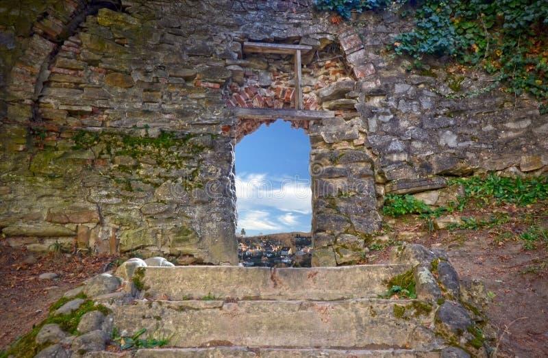 Secret Door Passage Royalty Free Stock Photography