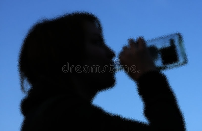 Secret Drinking stock images