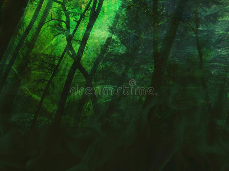 The secret Forrest. Forrest secret fantasyart fantasy distant magic cool awesome outside tree art artwork mystic magical nature fish fishing darkart ice cold stock photography