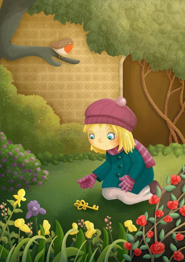 Download Secret garden stock illustration. Image of ancient, brick - 31776477