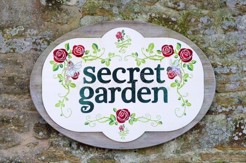 Secret garden sign stock illustration