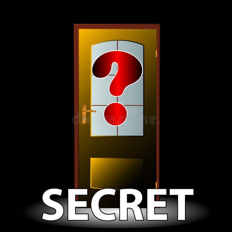 Secret icon royalty free illustration