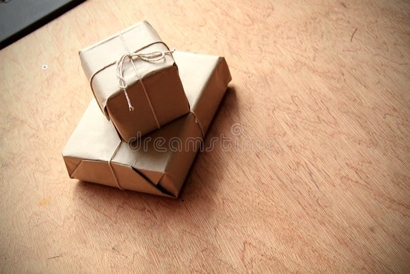 Secret parcel royalty free stock photography