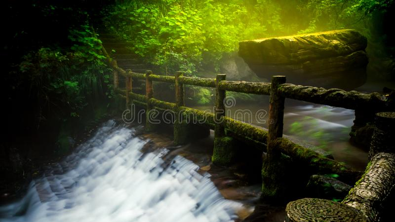 Secret path that you never to there stock photo
