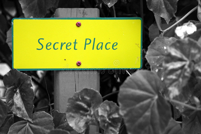Secret Place royalty free stock image