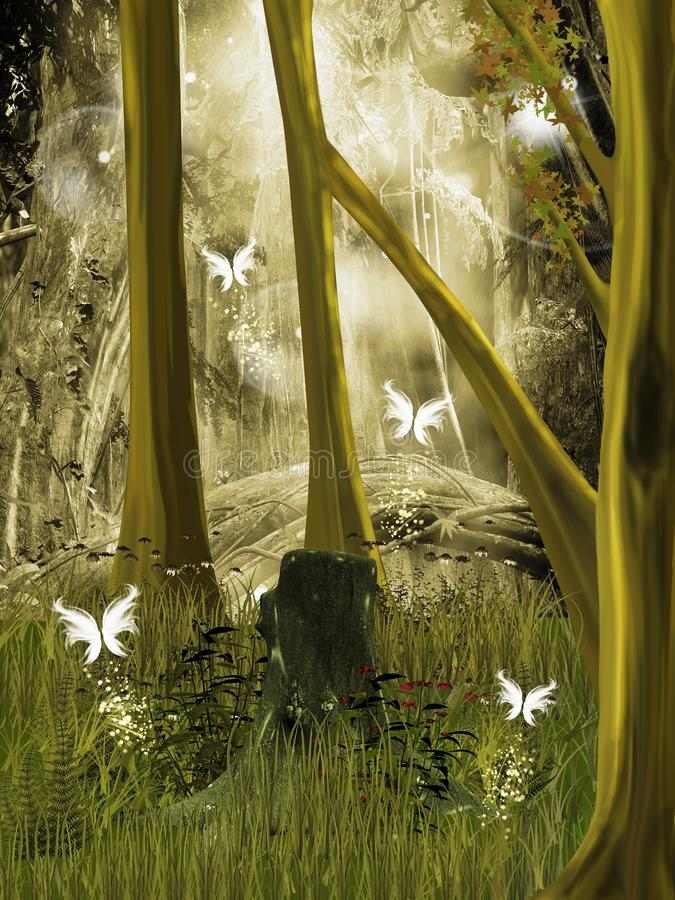Download Secret Place In The Middle Of The Forest Stock Illustration - Illustration of lights, tale: 20477891