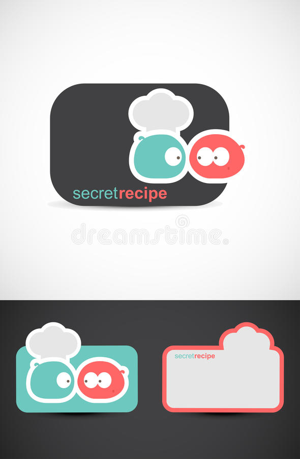 Secret recipe background stock image