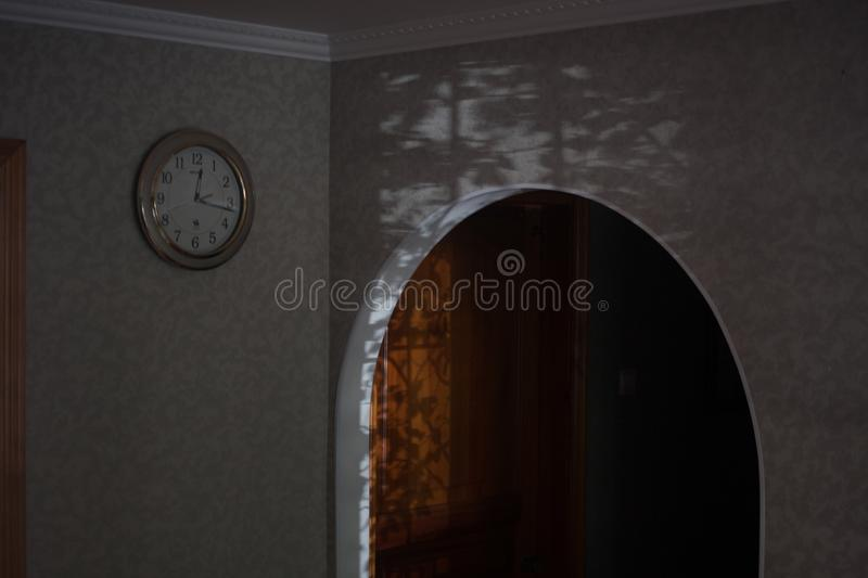 secret room. arch and door to the unknown royalty free stock images