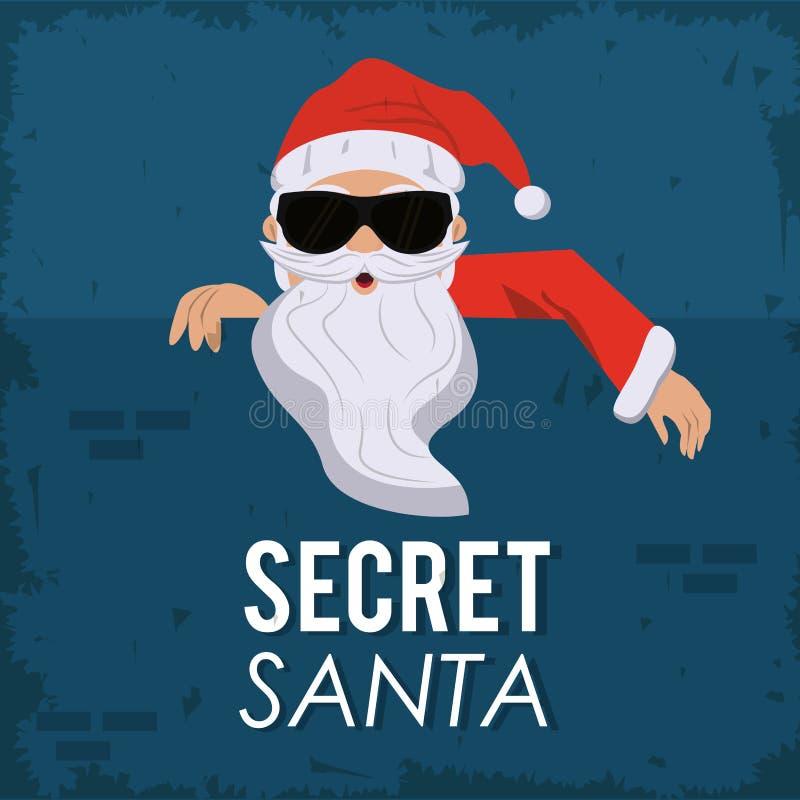 Secret santa cartoon stock illustration