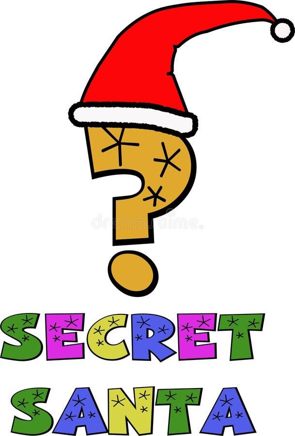 Secret Santa vector illustration