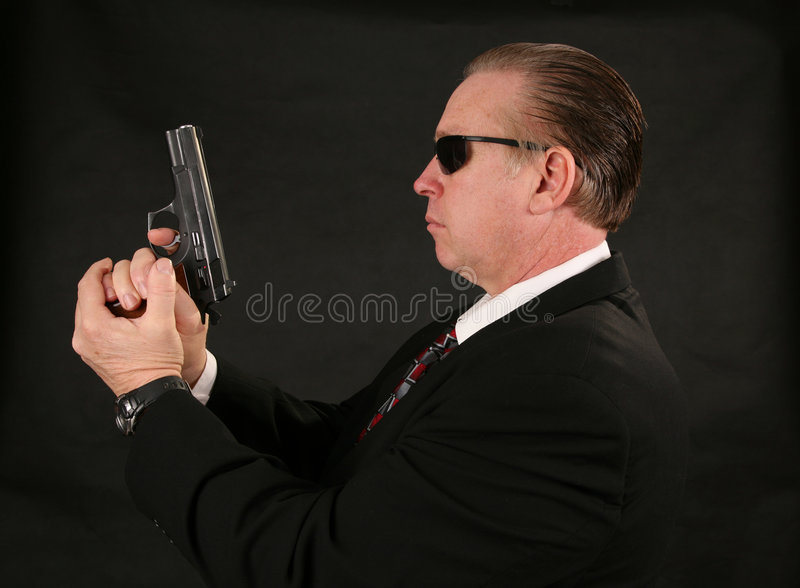 Secret service agent stock photo