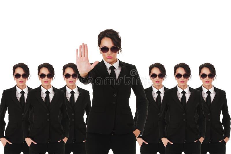 Secret service agents stock photography