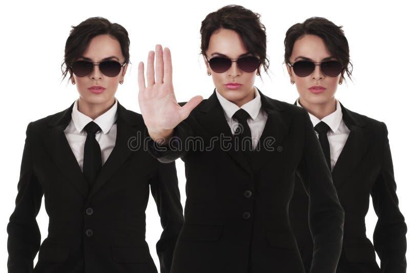 Secret service agents stock images