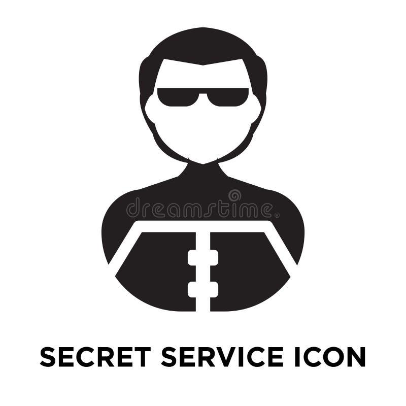 Secret service icon vector isolated on white background, logo co. Ncept of Secret service sign on transparent background, filled black symbol vector illustration