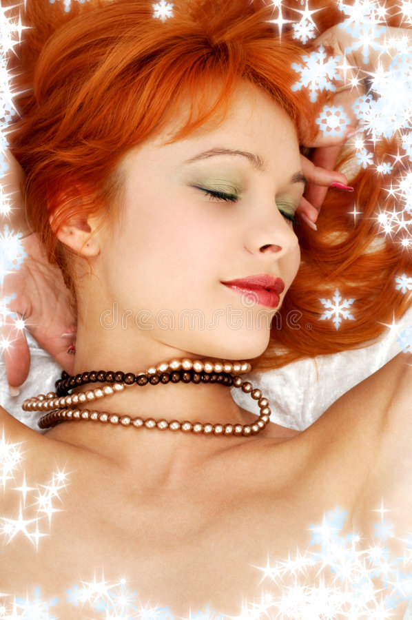 Free Secret Smile With Snowflakes 2 Stock Image - 3906321